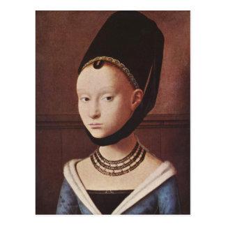 Portrait d'une carte postale de jeune fille