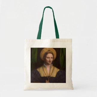 Portrait d'une dame, 1520-1525 (huile sur le panne sac fourre-tout