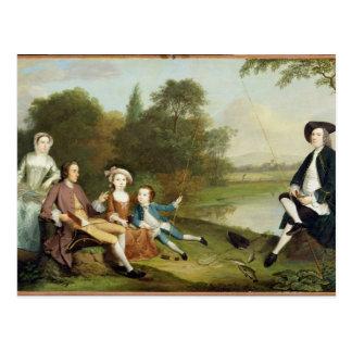 Portrait d'une famille, traditionnellement connu carte postale