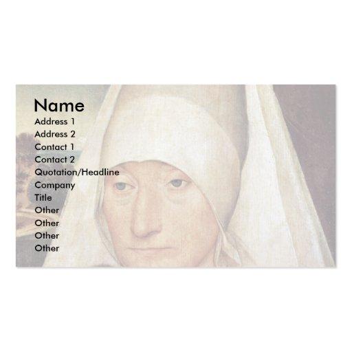 Portrait d'une femme âgée par Memling Hans Modèles De Cartes De Visite