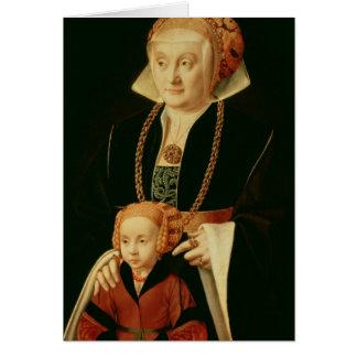Portrait d'une femme avec sa fille cartes