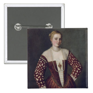 Portrait d'une femme badge