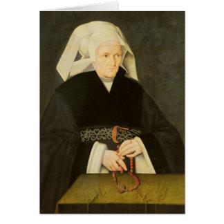 Portrait d'une femme, c.1550 cartes