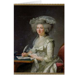 Portrait d'une femme, c.1787 carte de vœux