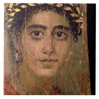Portrait d'une femme, de Fayum, Romano-Égyptien, Grand Carreau Carré