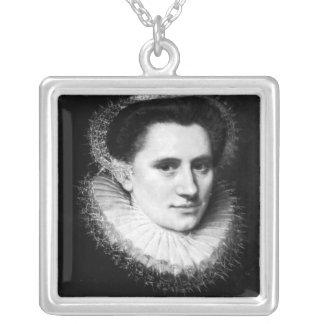 Portrait d'une femme pendentif carré