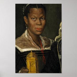 Portrait d'une femme slave africaine posters