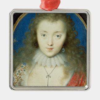 Portrait d'une fille ornement carré argenté