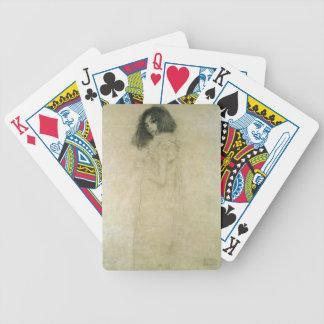 Portrait d'une jeune femme, 1896-97 cartes à jouer