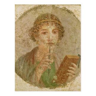 Portrait d'une jeune fille carte postale