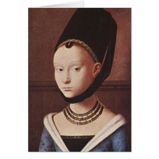 Portrait d'une jeune fille cartes
