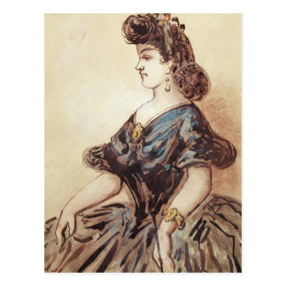 Portrait en buste d'une femme cartes postales
