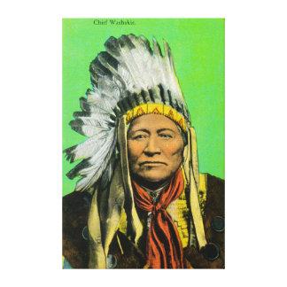 Portrait en chef de Washakie Toiles Tendues Sur Châssis