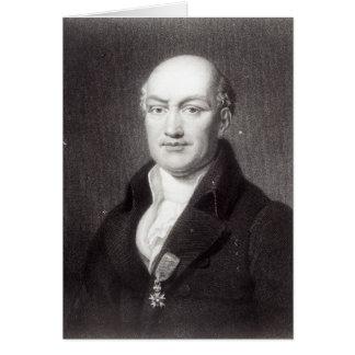 Portrait en Jean Baptiste Joseph Delambre Carte De Vœux