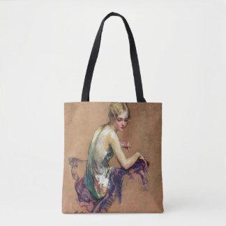 Portrait en pastel sac