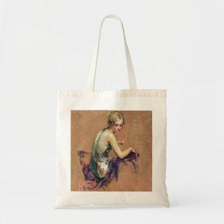 Portrait en pastel sacs en toile