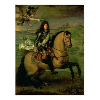 Portrait équestre de Louis XIV Carte Postale