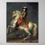 Portrait équestre de Louis XIV Poster