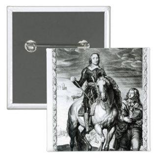 Portrait équestre d'Oliver Cromwell Badge