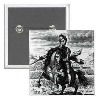 Portrait équestre d'Oliver Cromwell Badges