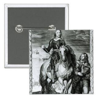 Portrait équestre d'Oliver Cromwell Pin's