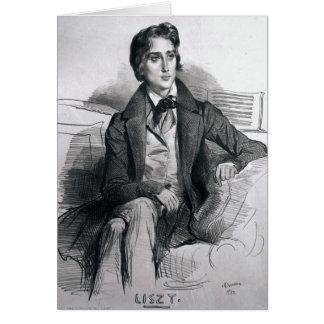Portrait Franz Liszt en août 1832 Cartes