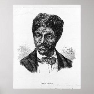 Portrait gravé d'Afro-américain Dred Scott Posters