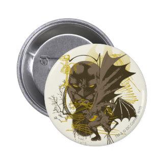 Portrait grunge vintage de Batman Badges
