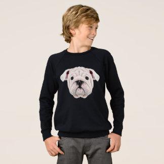 Portrait illustré de chiot anglais de bouledogue sweatshirt