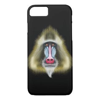 Portrait illustré de singe de Mandrill Coque iPhone 7