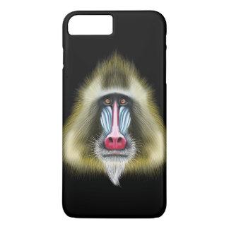Portrait illustré de singe de Mandrill Coque iPhone 7 Plus
