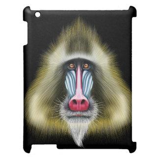 Portrait illustré de singe de Mandrill Coque Pour iPad