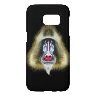 Portrait illustré de singe de Mandrill Coque Samsung Galaxy S7