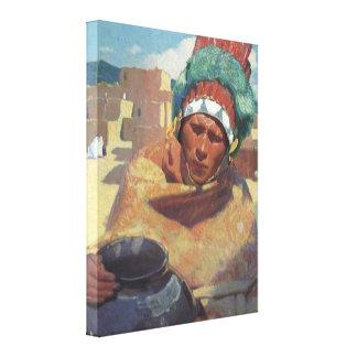 Portrait indien indigène de Taos, Blumenschein Impressions Sur Toile