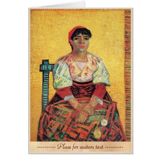 Portrait italien de femme peignant Vincent van Cartes