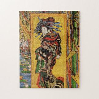 Portrait japonais de cru d'Oiran de courtisane de Puzzle