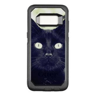 Portrait mignon de chat noir coque samsung galaxy s8 par OtterBox commuter