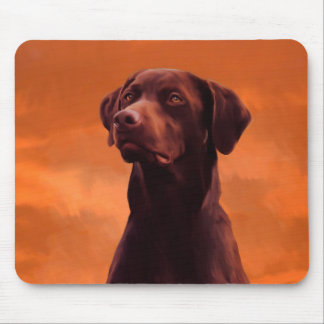 Portrait noir de chien de Labrador Tapis De Souris