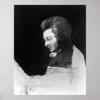 Portrait non fini de Wolfgang Amadeus Mozart Affiches