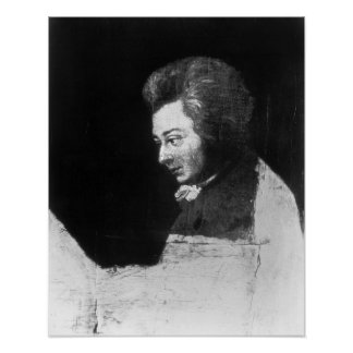 Portrait non fini de Wolfgang Amadeus Mozart Posters