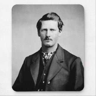 Portrait occidental de représentants de la loi tapis de souris