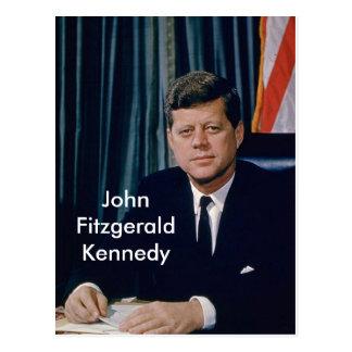 Portrait officiel de JFK de public domain Carte Postale