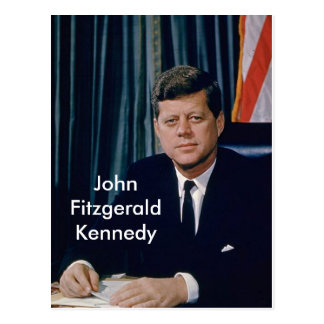 Portrait officiel de JFK de public domain Cartes Postales