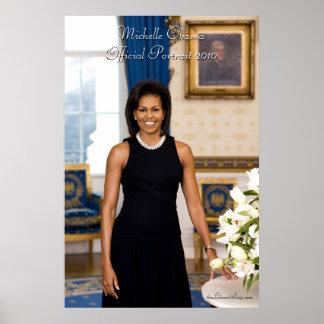 Portrait officiel de première Madame Michelle Poster