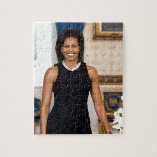 Portrait officiel de première Madame Michelle Puzzles