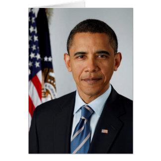 Portrait officiel du Président Barack Obama Carte De Vœux