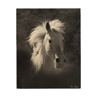 Portrait V de cheval Canevas En Bois