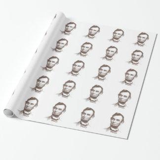 Portrait vintage d'Abraham Lincoln Papiers Cadeaux Noël