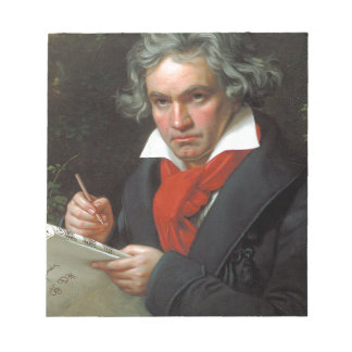 Portrait vintage de compositeur, Ludwig von Blocs Notes