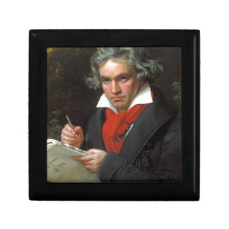 Portrait vintage de compositeur, Ludwig von Petite Boîte À Bijoux Carrée